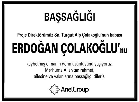 İlanı Çolakoğlu Başsağlığı Erdoğan Anelgroup -