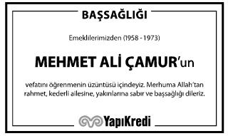 Mehmet Ali Çamur Başsağlığı İlanı