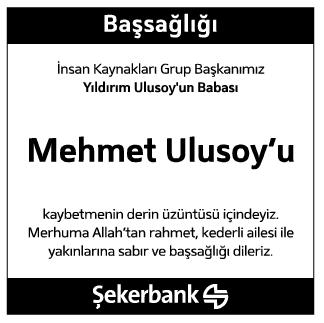 Mehmet Ulusoy Vefat İlanı