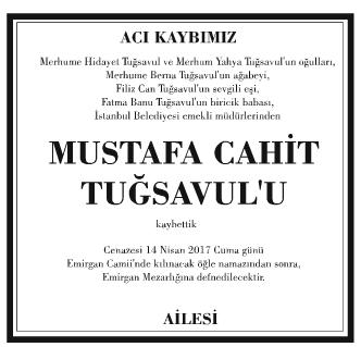 Mustafa Cahit Tuğsavul Vefat İlanı